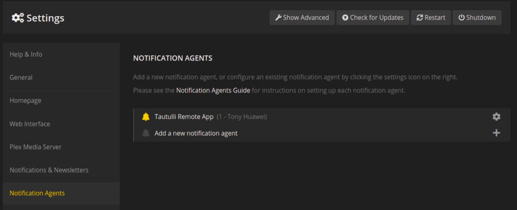 notification agents